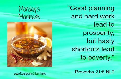 Monday's Marinade www.EvangelineColbert.com