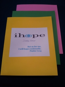 iHope Fertility Retreat workshop booklets